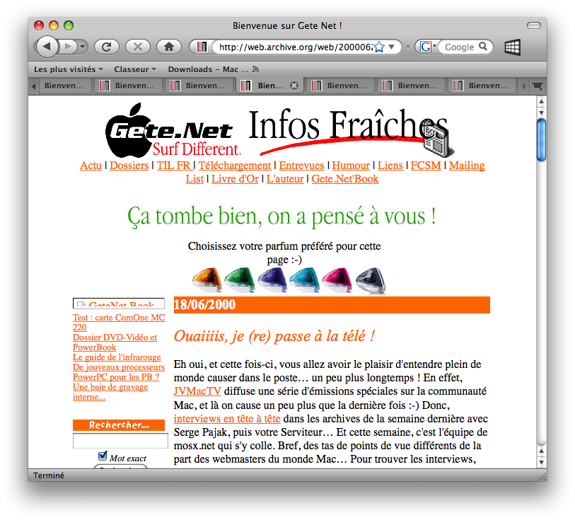 Gete.Net version iMac