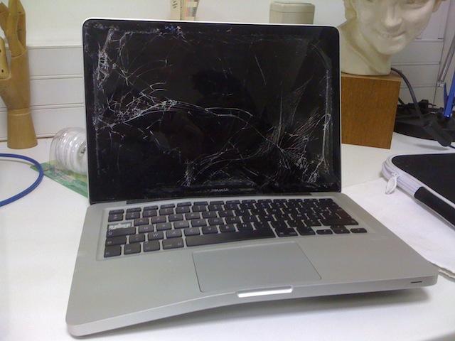 Un MacBook en piteux état…