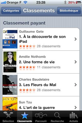 Cahier iPad, premier des vente sur l'iBook Store !