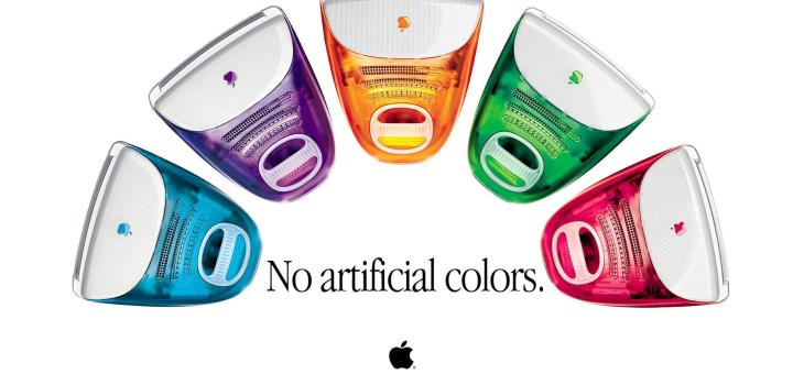 iMac 1999 en couleurs