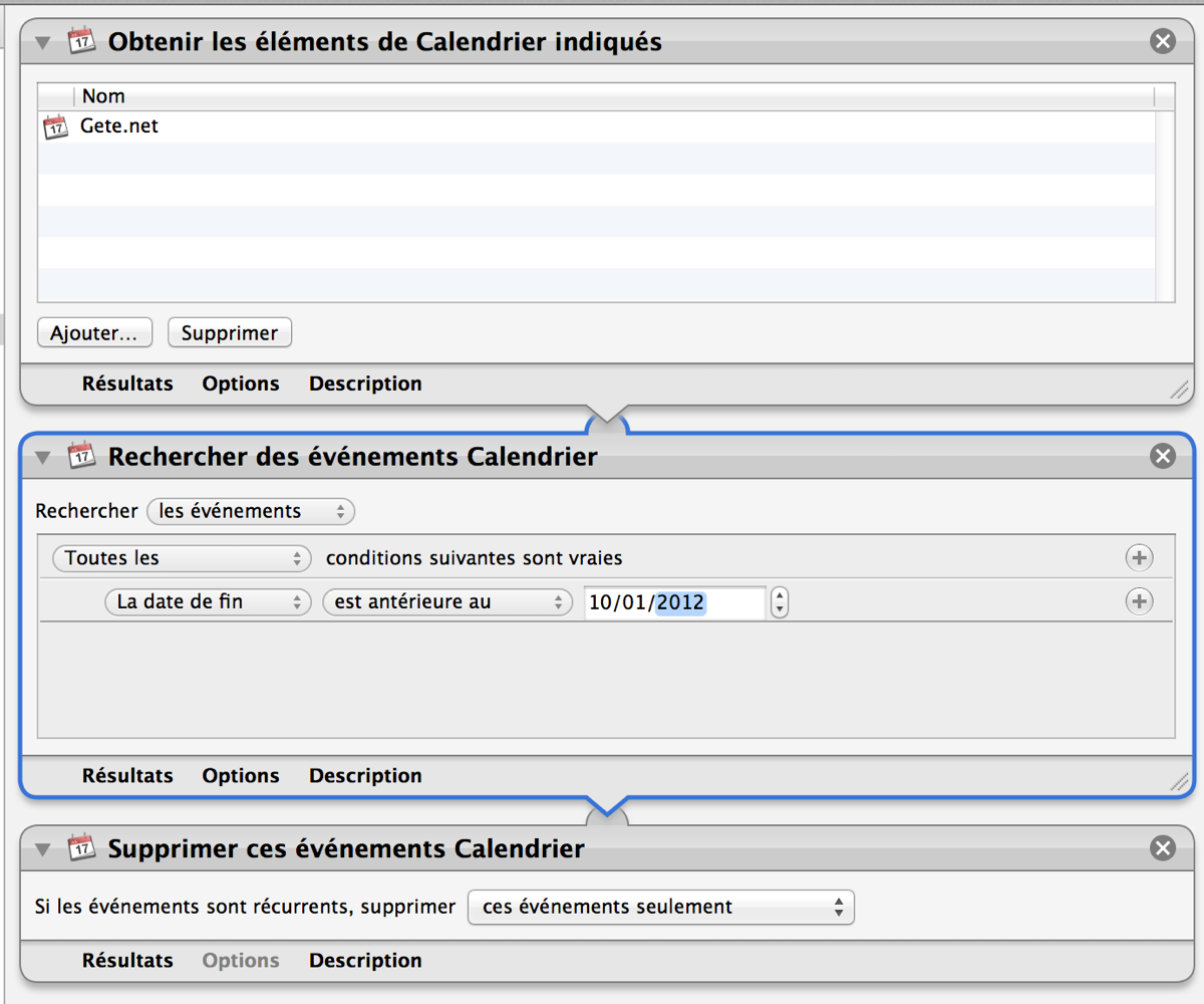 Calendrier Suppresion Automator