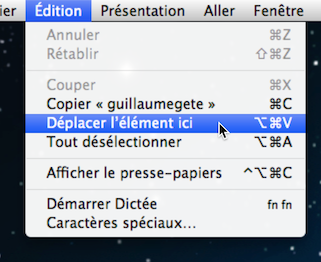 Finder Deplacement Element