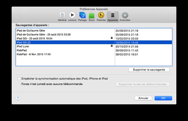 Chiffrement iOS6