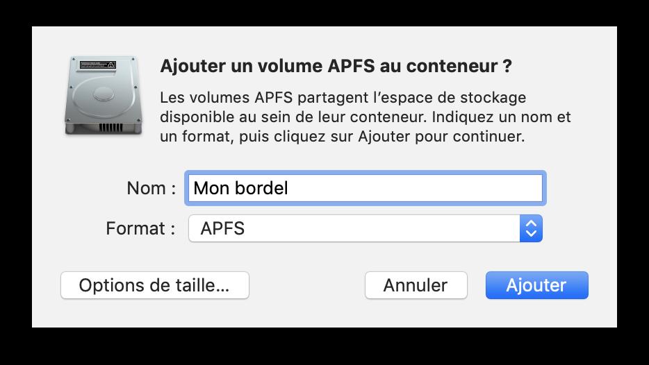 Conteneur APFS 04